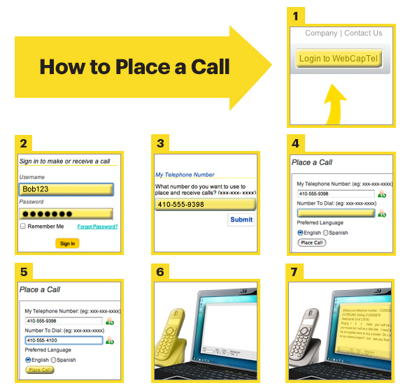 Steps to Place a WebCapTel Call